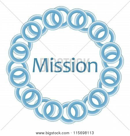 Mission Blue Rings Circular