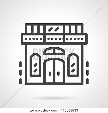 Storefronts simple line vector icon. Book shop