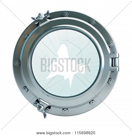 Broken Glass Porthole