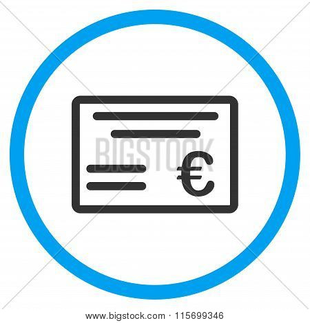 Euro Cheque Circled Icon