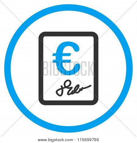 Euro Contract Circled Icon