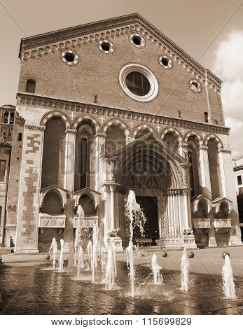 Saint Lawrence Church In The Historic City Of Vicenza In Italy