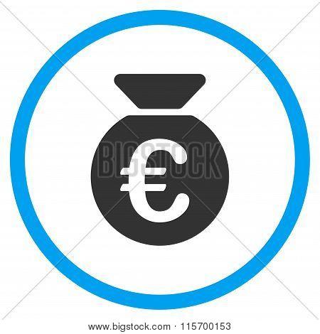 Euro Money Bag Rounded Icon