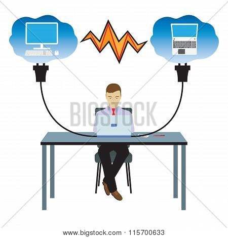 Network Cloud Technology. Illustration.