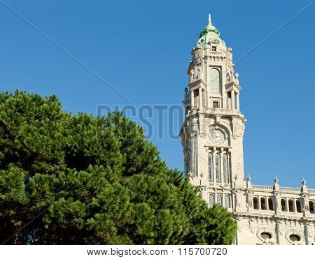 Town Hall Building, Camara Municipal Do Porto, On Liberdade Square. Porto, Portugal