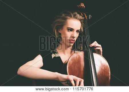 Pretty Young Female Musician
