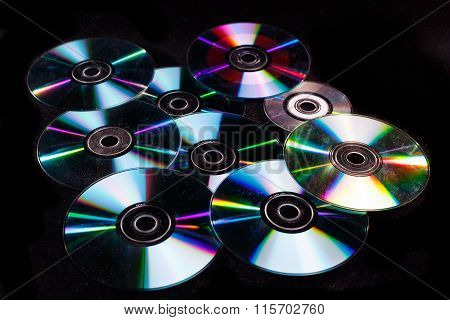 Multiple disks, this can be a DVD or CD