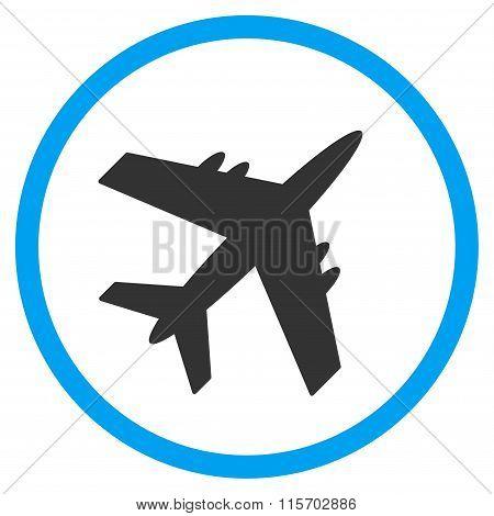 Aircraft Circled Icon