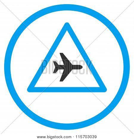 Airplane Danger Circled Icon