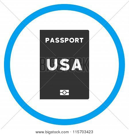 American Passport Circled Icon