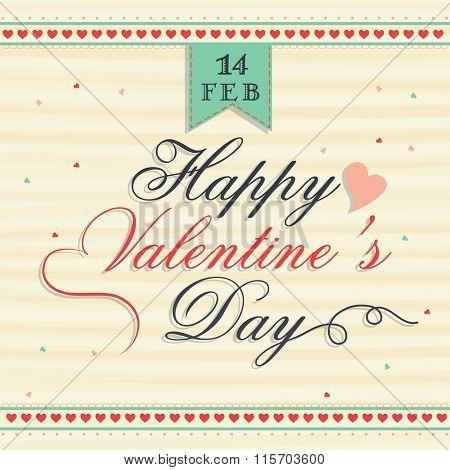 Greeting card design for Happy Valentine's Day celebration.