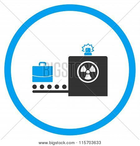 Baggage Screening Circled Icon