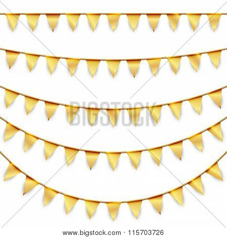 Party Garlands Colored Golden