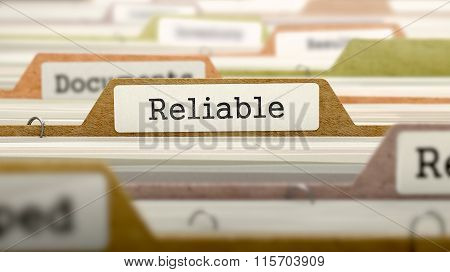 Reliable Concept on Folder Register.