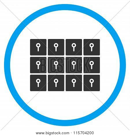 Lockers Circled Icon