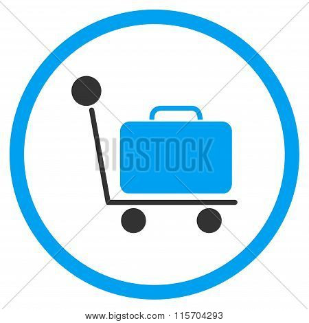 Luggage Trolley Rounded Icon