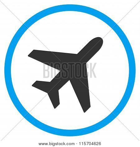 Plane Circled Icon