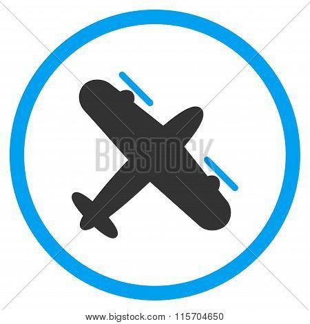Propeller Aircraft Circled Icon