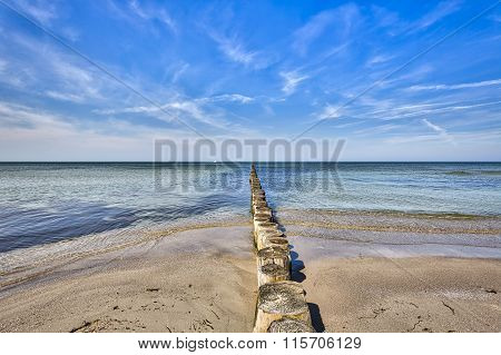 Hdr Ocean Landscape On Hiddensee, Baltic Sea, Germany