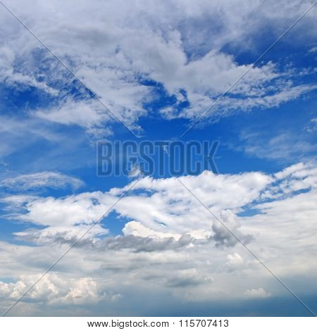 beautiful clouds in blue sky