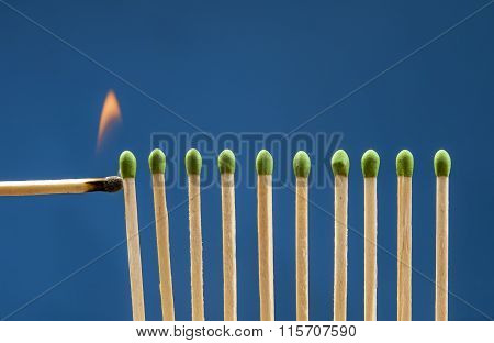 Lighting The Matches.