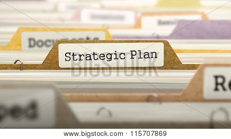 File Folder Labeled as Strategic Plan.