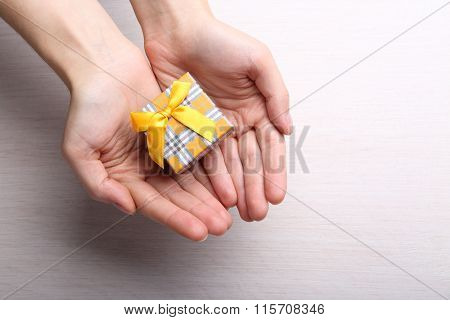Gift Box In Female Hands
