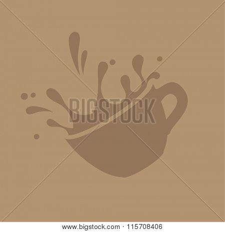 coffee splashes vector