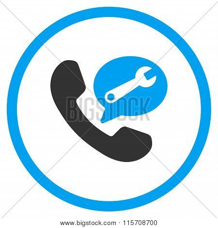 Phone Service Message Rounded Icon