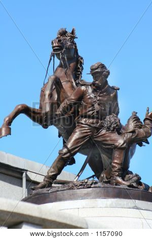 Bronze Civil War Statue