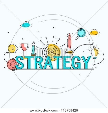 Different creative Infographic elements for Business Strategy concept.