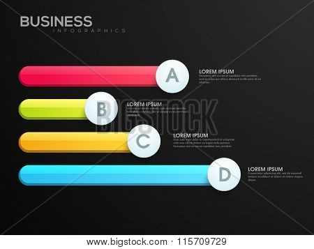 Creative colorful slider Infographic elements for Business concept.