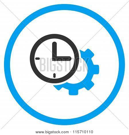 Time Setup Rounded Icon