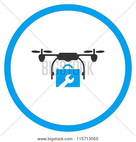 Service Drone Rounded Icon