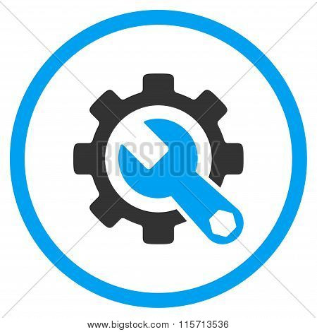 Service Tools Rounded Flat Icon