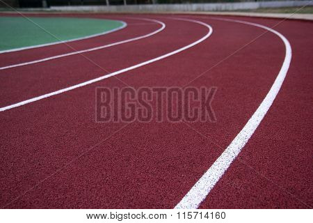 Athlete Track or Running with nice scenic