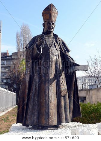 Monument Of Pope John Xxiii. Sofia, Bulgaria