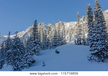 Snowy Scene In Colorado Mountains