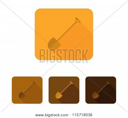 icons shovel illustrated in flat design background