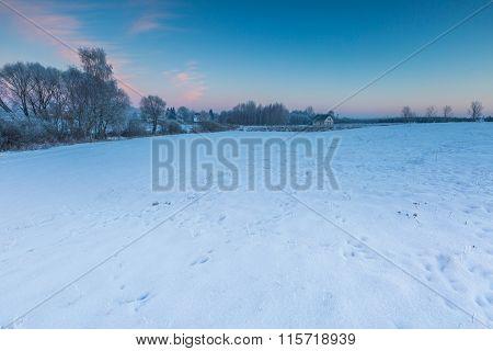 House Near Winter Fields