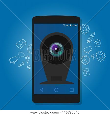 online mobile phone camera webcam security surveillance internet