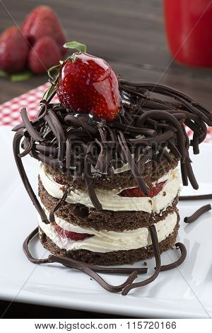 Chocolate Cake Vertical