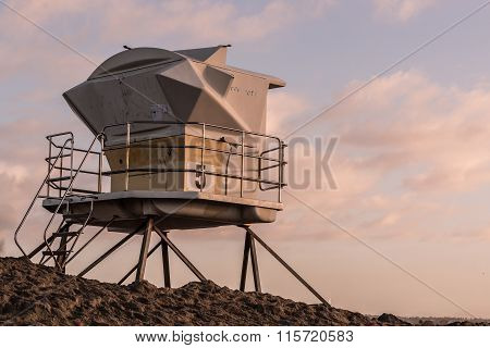 Lifeguard Tower in San Diego, California