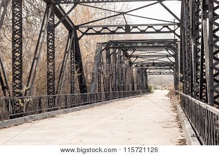 Historic Sweetwater River Truss Bridge in San Diego