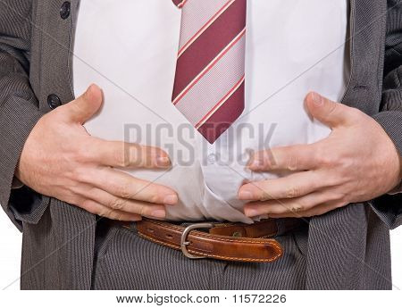 fat businessman