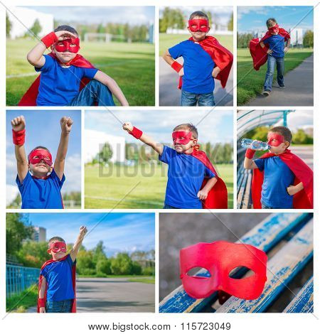 Photo Collage Of Superhero