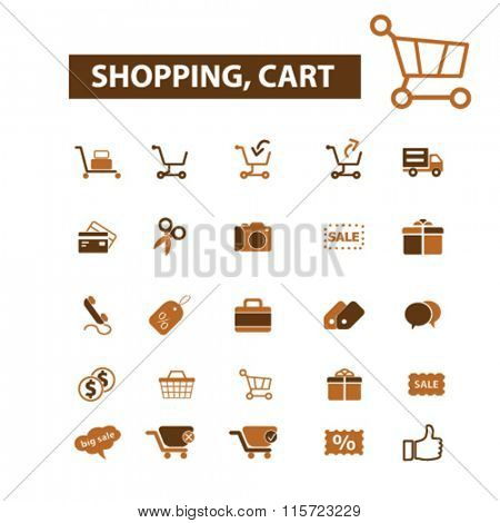 store, shopping, retail, sales  icons, signs vector concept set for infographics, mobile, website, application