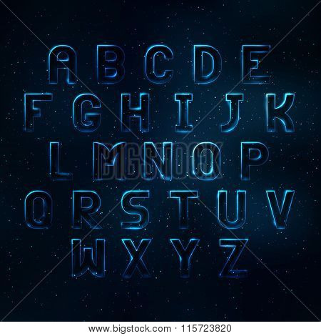 Glowing Cosmic Neon Font