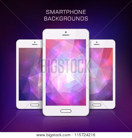 White Mobile Phone  Template