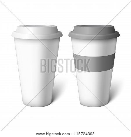 Mockup White Coffee Cup